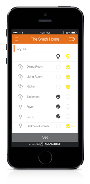 Lighting Control Mobile App